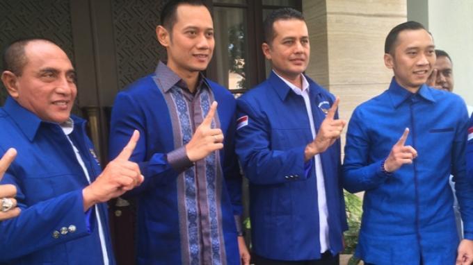 Keluar dari Rumah SBY, Edy Rahmayadi Pakai Jas Partai Demokrat