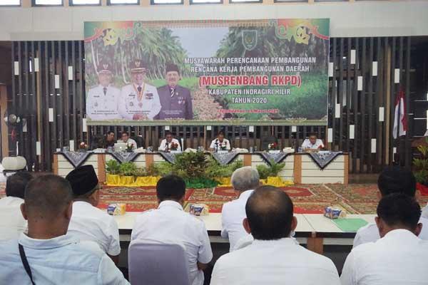 Wabub H Syamsuddin Buka Musrenbang RKPD Kabupaten Inhil Tahun 2020