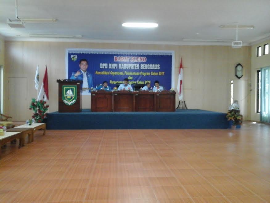 DPD KNPI Kabupaten Bengkalis Selenggarakan Rapat Pleno Tahunan 2017