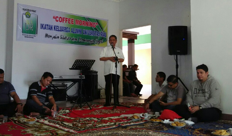 Bahas Pelantikan, IKA Unri Gelar Coffee Morning
