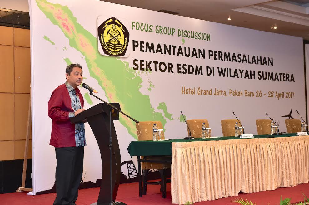 Pemantauan Permasalahan Sektor Energi Sumber Daya Mineral Di Wilayah Sumatera