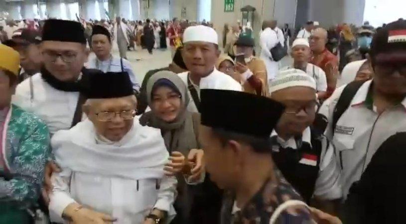 Fadli Zon dan Fahri Hamzah Bertemu Ma'ruf Amin di Makkah, Apa yang Dibahas?