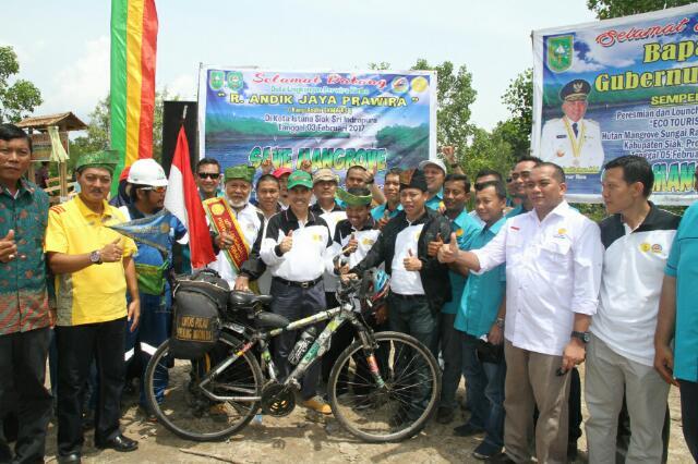 Bupati Syamsuar Lauching Kawasan Eco Tourism Hutan Mangrove Sungai Rawa