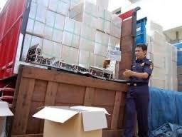 Polsek Bangkinang Tangkap 9.590 Bungkus Rokok Ilegal