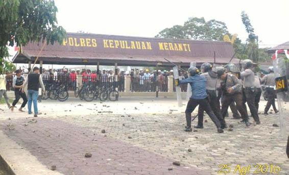 Pascabentrok, Kapolres Meranti Dimutasi ke Polda Riau