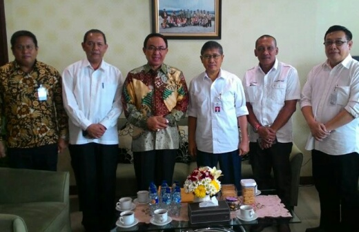 Bupati Inhil Kunjungi Dirjen Kementerian PU