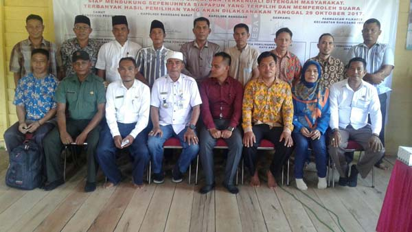 Deklarasi Pilkades Damai Kecamatan Rangsang Pesisir