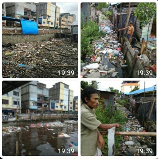 Sampah di Sungai Guntung Kateman Kian Parah, Muhammad Husaini: Pemerintah Terkait Harus Segera Atasi