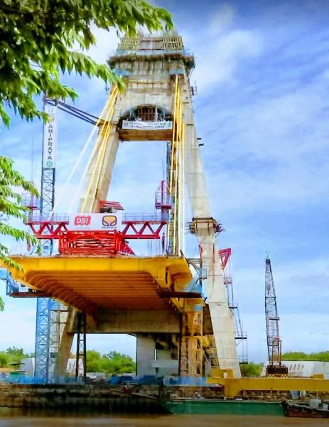 Resmi Jembatan Siak IV  10 Tahun Dibangun Habiskan Rp440 Miliar
