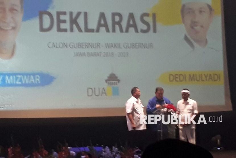 SBY Resmi Dukung Deddy Mizwar-Dedi Mulyadi