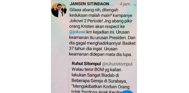 Selipkan Kampanye Jokowi Dalam Ucapan Duka, Ruhut Disikat Kader Demokrat