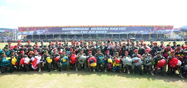 Gubri Hadiri Puncak Peringatan HJK TNI AD ke-72