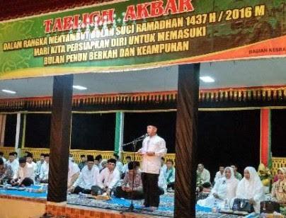 Bupati Harris Ikuti Tablik Akbar di Kelurahan Langgam