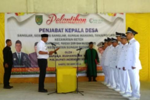 Pjs Bupati Inhil Lantik Penjabat Kepala Desa 2 Kecamatan Sekaligus