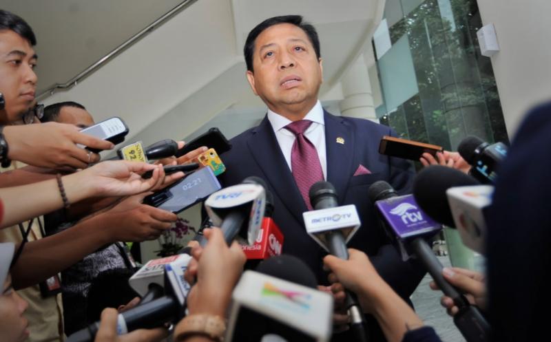 Setya Novanto Serahkan Kasus E-KTP ke Penegak Hukum