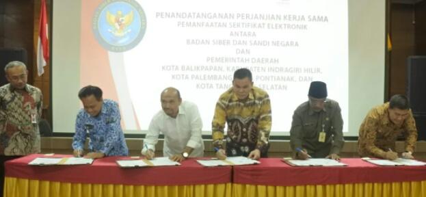 Diskominfops Ikuti Rapat Finalisasi Dan Penandatanganan PKS Dengan BSSN