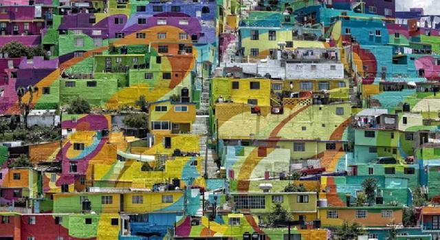 Mengubah Citra Kawasan Kriminal dengan Mural Raksasa